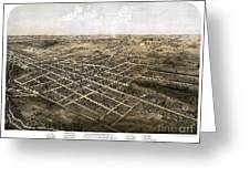 Birds Eye View Of The City Of Coldwater, Michigan - 1868 Greeting Card