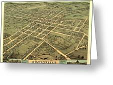 Bird's Eye View Of The City Of Huntsville, Madison County, Alabama 1871 Greeting Card