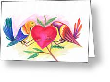 Birds In Love 01 Greeting Card