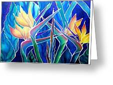 Birds Of Paradise  Greeting Card by Francine Dufour Jones