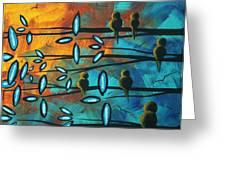 Birds Of Summer By Madart Greeting Card