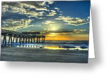 Birds On The Roof Sunrise Tybee Island Greeting Card