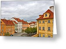 Birds Over Prague Greeting Card
