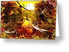 Birds World Greeting Card