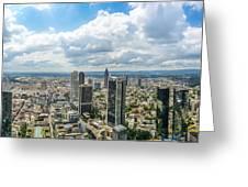 Birdview Of Frankfurt Am Main Greeting Card