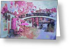 Birmingham Canal Watercolor Greeting Card