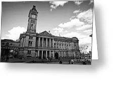 Birmingham Museum And Art Gallery With Clock Tower On Chamberlain Square Uk Greeting Card
