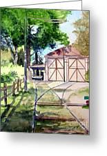 Birney Trolley Barn Greeting Card