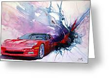 Birth Of A Corvette Greeting Card