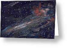Birth Of A Galaxy Greeting Card by Elizabeth Lane