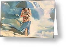 Birth Of Air And Water Greeting Card
