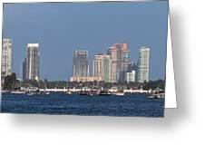 Biscayne Bay At Miami Yatch Club Greeting Card