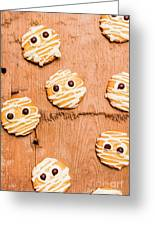 Biscuit Gathering Of Monster Mummies Greeting Card