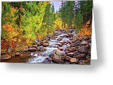 Bishop Creek In Autumn Greeting Card