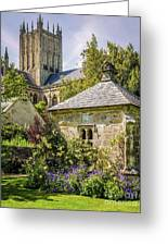 Bishops Palace Gardens - Wells England Greeting Card
