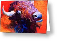 Bison Attitude Greeting Card