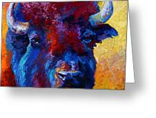 Bison Boss Greeting Card