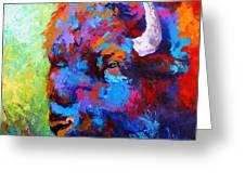 Bison Head II Greeting Card