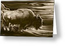 Bison ... Montana Art Photo Greeting Card