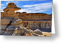 Bisti Badlands Formations - New Mexico - Landscape Greeting Card