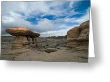 Bisti Fissure New Mexico Greeting Card