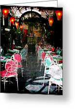 Bistro Chairs Greeting Card