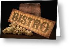 Bistro Still Life IIi Greeting Card