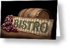 Bistro Still Life Iv Greeting Card by Tom Mc Nemar