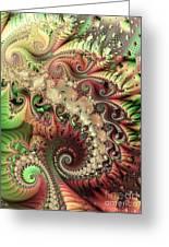 Bisymmetric Spiral Spring Greeting Card