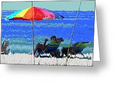Bit Of Shade On The Beach Greeting Card