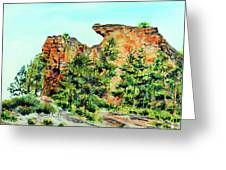 Bitterroot Cliffs Greeting Card