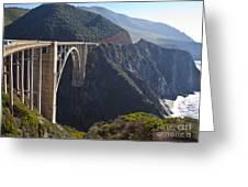 Bixby Bridge Crossing A Chasm Greeting Card by David Buffington