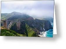 Bixby Bridge Fog Greeting Card