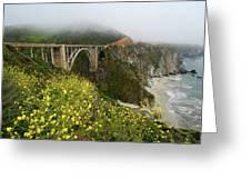 Bixby Bridge Greeting Card by Harry Spitz