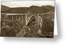 Bixby Creek Aka Rainbow Bridge Bridge Big Sur Photo  1937 Greeting Card