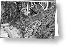 Bixby Creek Bridge Big Sur Photo  Circa 1939 Greeting Card