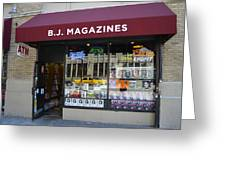 B.j. Magazines New York Greeting Card