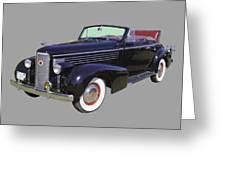 Black 1938 Cadillac Lasalle Greeting Card