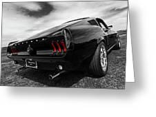 Black 1967 Mustang Greeting Card