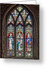 Black Abbey Window - Kilkenny - Ireland Greeting Card