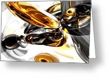 Black Amber Abstract Greeting Card