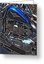 Black And Blue Harley Greeting Card