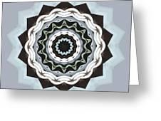 Black And Blue Mandala Greeting Card