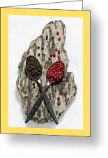 Black And Pink Peppercorns Greeting Card