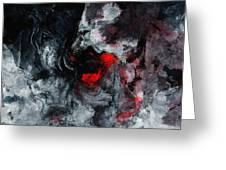 Black And Red Abstract Painting  Greeting Card