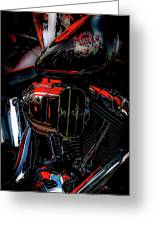Black And Red Harley 5966 H_2 Greeting Card