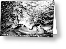 Black And Silver Greeting Card