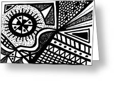 Black And White 14 Greeting Card