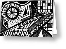 Black And White 15 Greeting Card