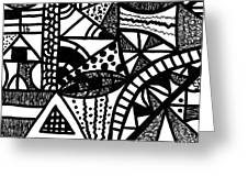 Black And White 16 Greeting Card